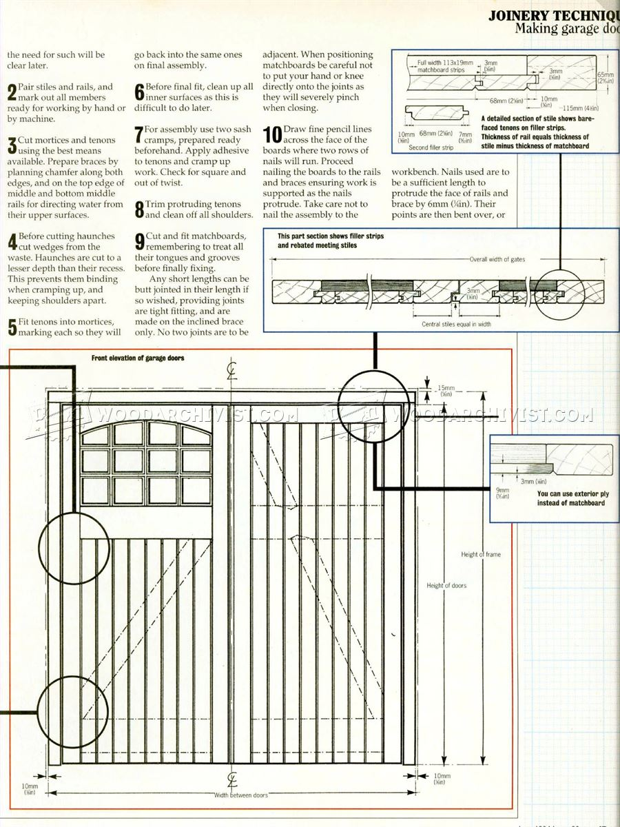 Garage door plans woodarchivist for Garage door plans free