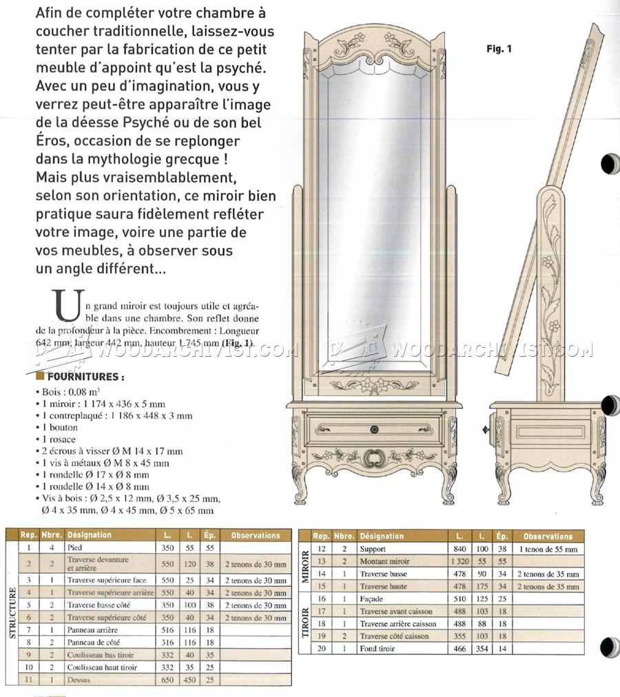 Cheval Mirror Plans