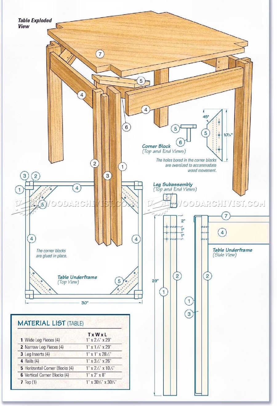 Kitchen Table And Bench Plans Woodarchivist