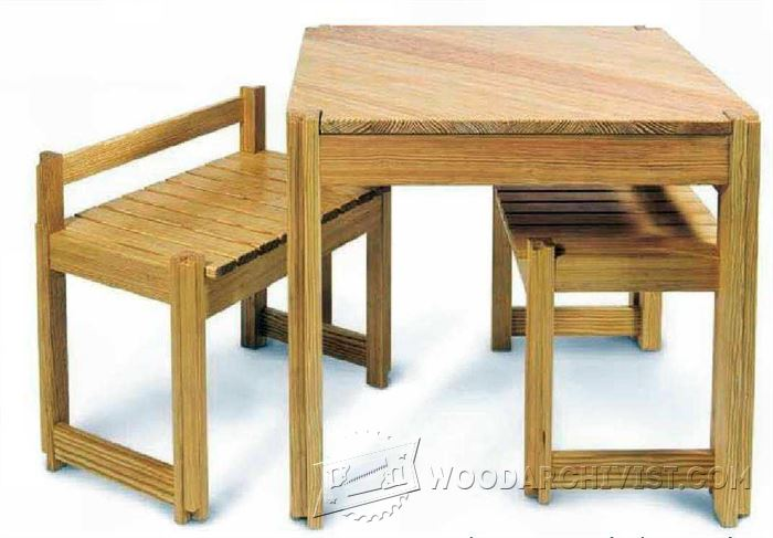 Kitchen table and bench plans woodarchivist - Kitchen table bench plans ...
