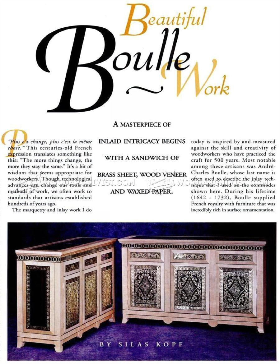 Boulle Marquetry Methods of Work
