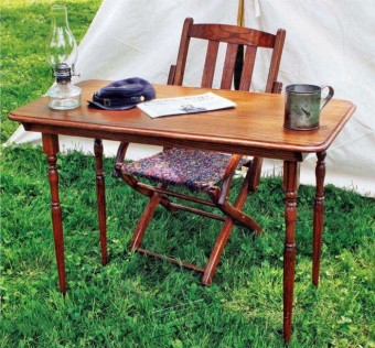272-Outdoor Furniture Plans & Projects-Civil War Folding Table