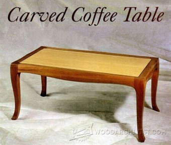274-Furniture Plans & Projects-Carved Coffee Table