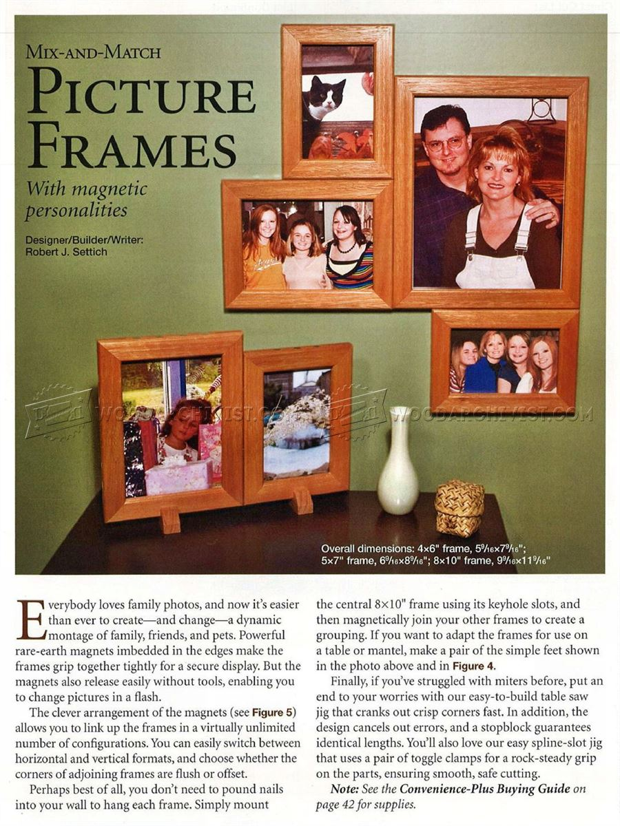 Mix and Match Picture Frame Plans