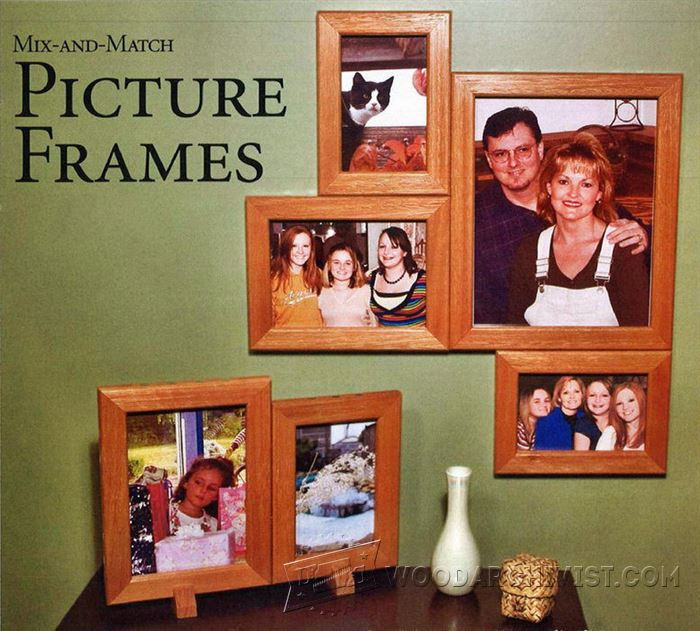 Mix And Match Picture Frame Plans Woodarchivist