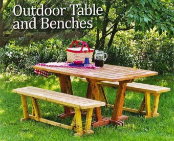 278-Table and Benches - Outdoor Furniture Plans