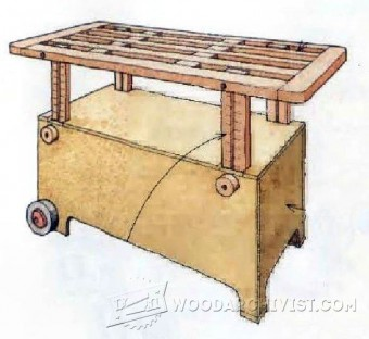 282-Adjustable Height Worktable Plans