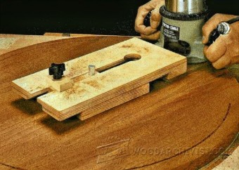 284-Router Trammel Jig Plans