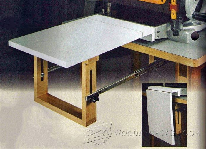 Thickness Planer Extension Table Woodarchivist