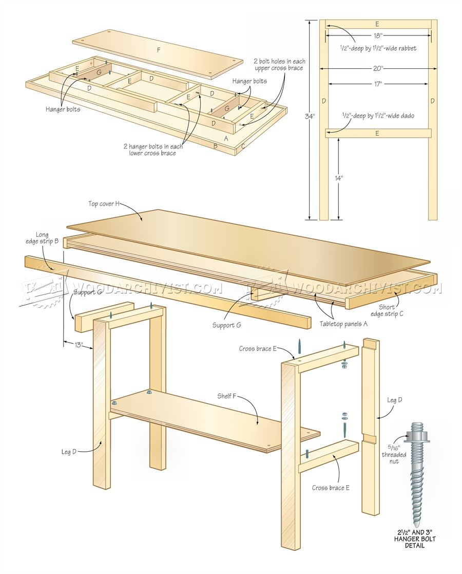 300 Simple Workbench Plans - Workshop Solutions