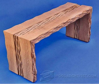 302-Rippled Oak Bench Plans
