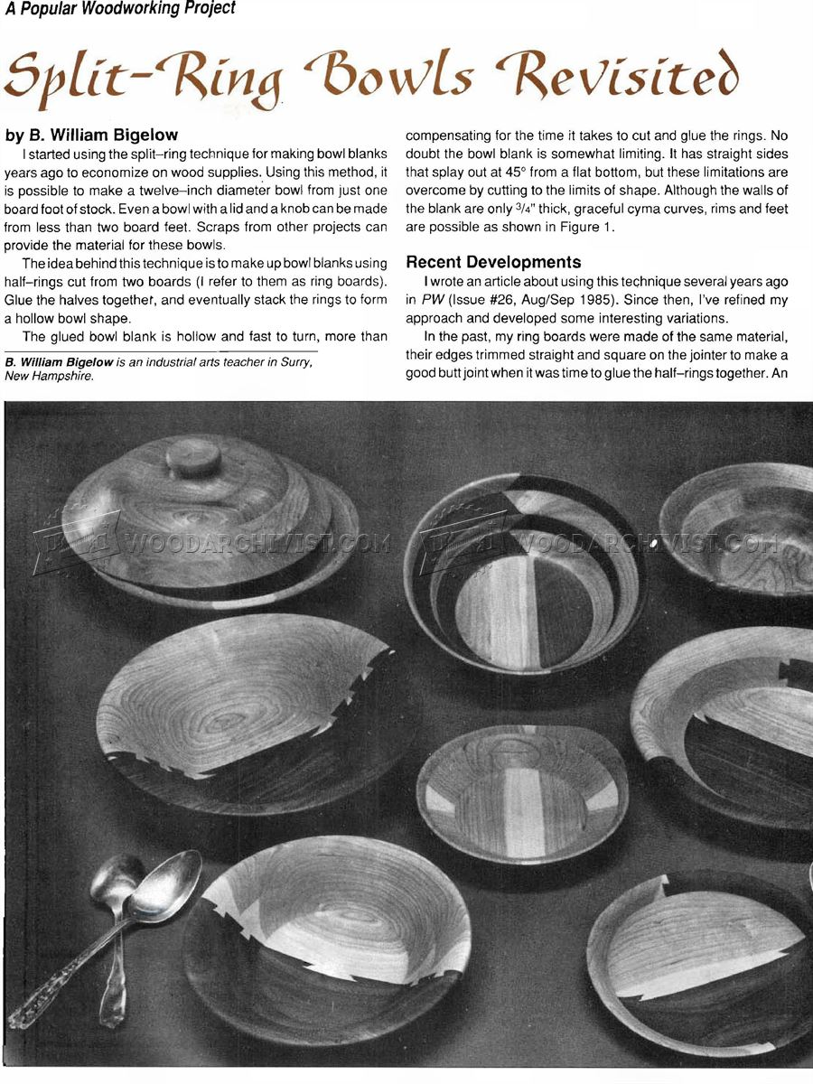 Split-Ring Bowl Turning Technique