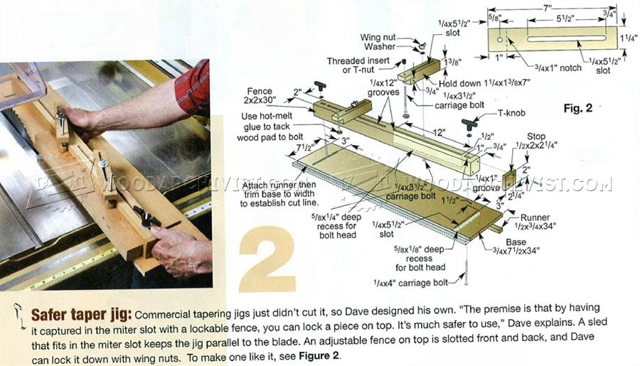 Safer Taper Jig Plans