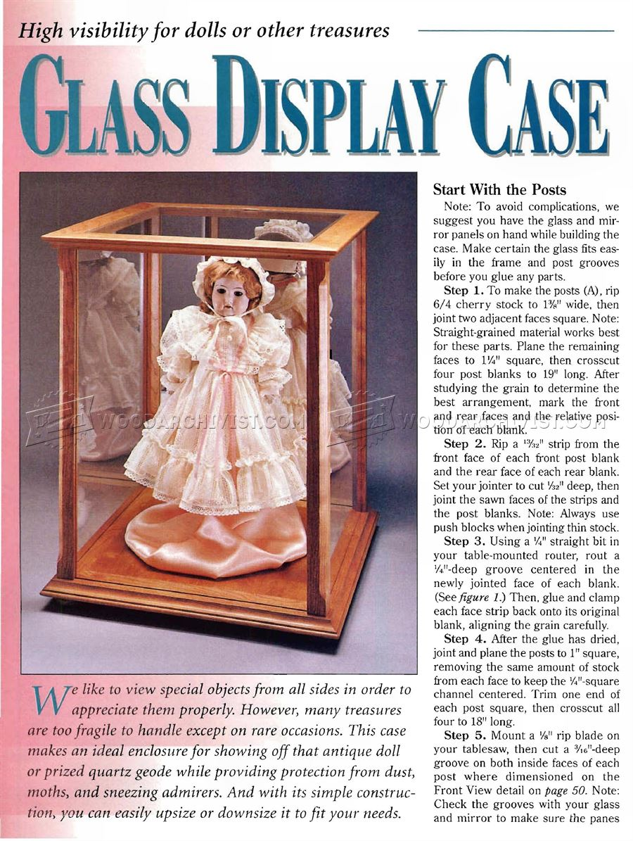 Glass Display Case Plans