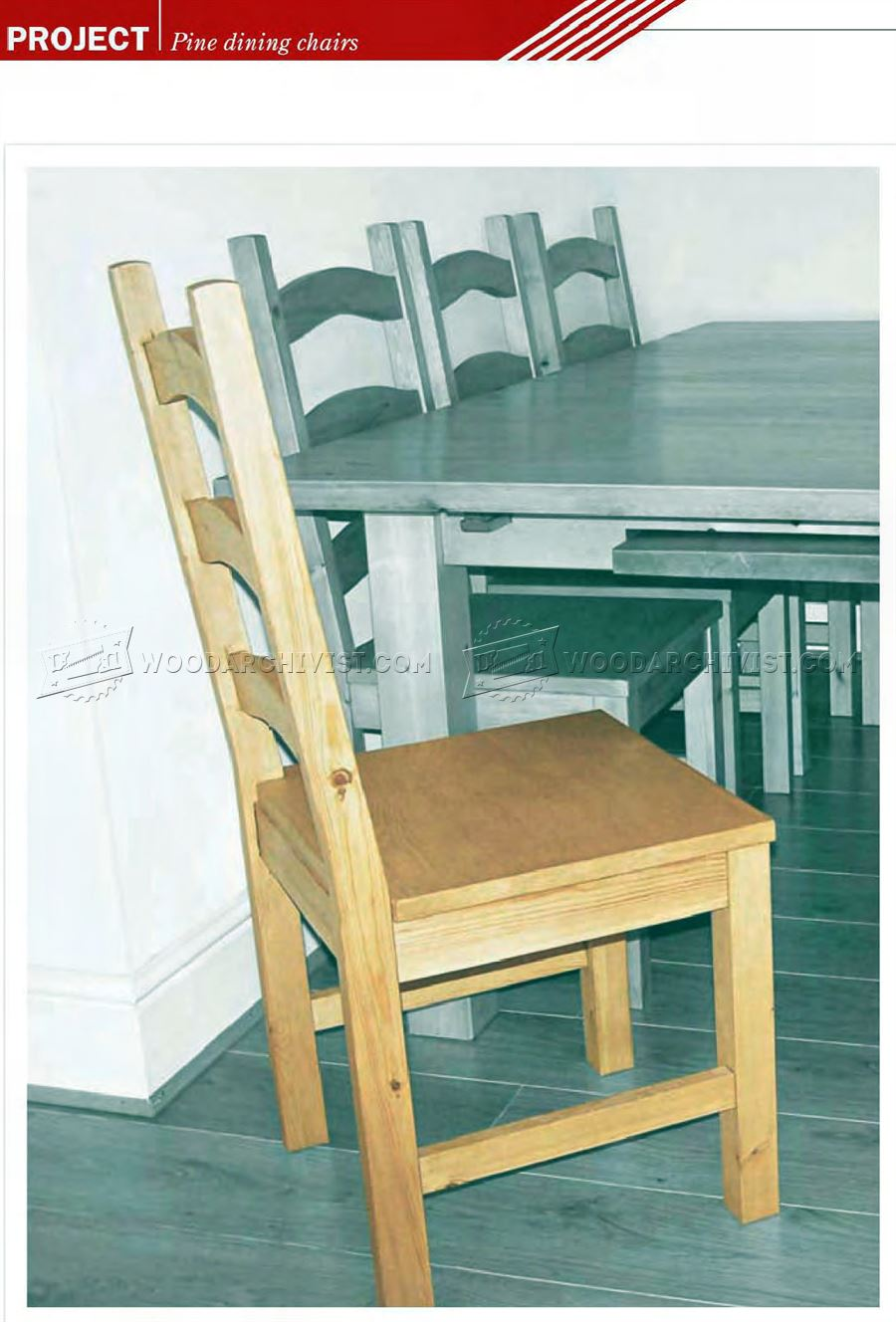 Pine Dining Chair Plans O WoodArchivist