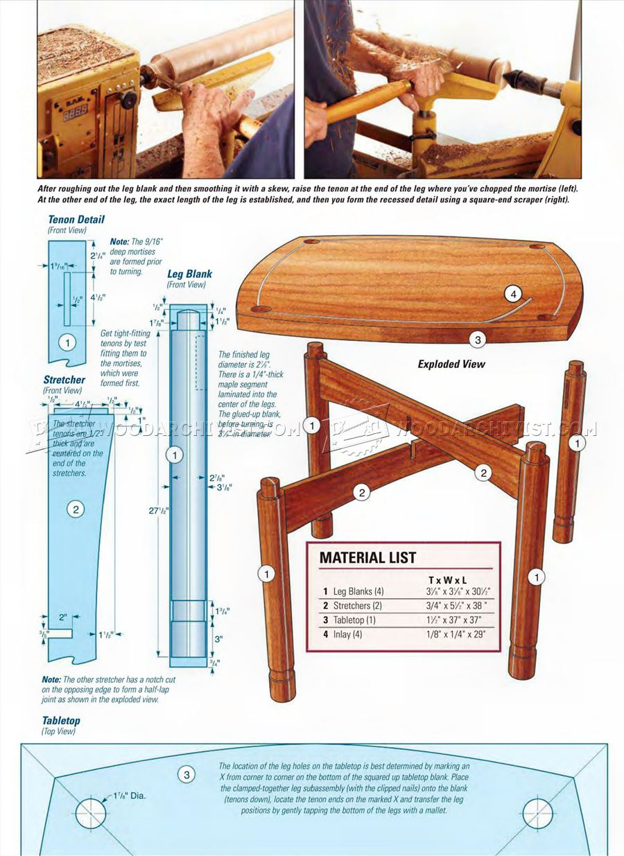 Walnut Game Table Plans
