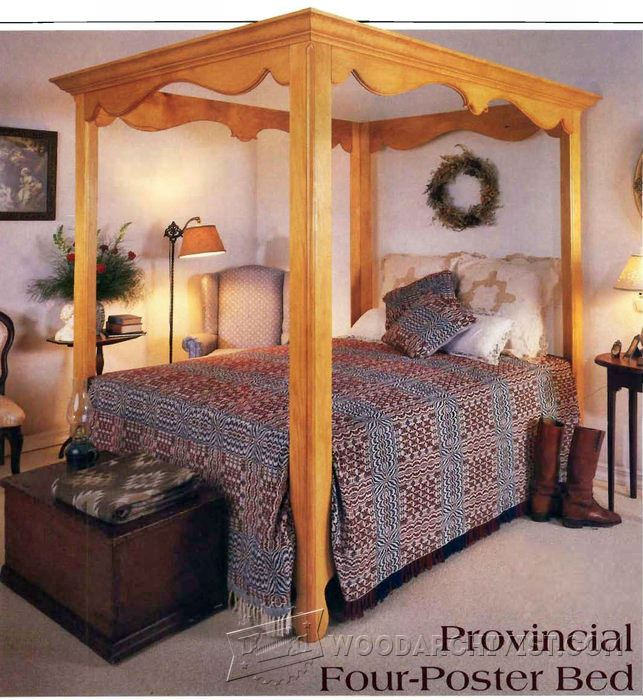 Four Poster Bed Plans Woodarchivist
