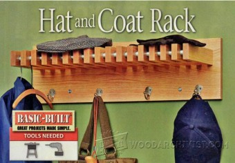 337-Hat and Coat Rack Plans
