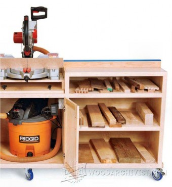 344-Ultimate Miter Saw Stand Plans