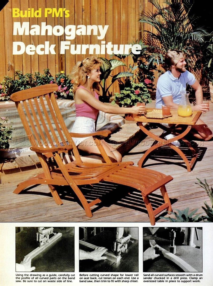 Titanic Deck Chair Plans