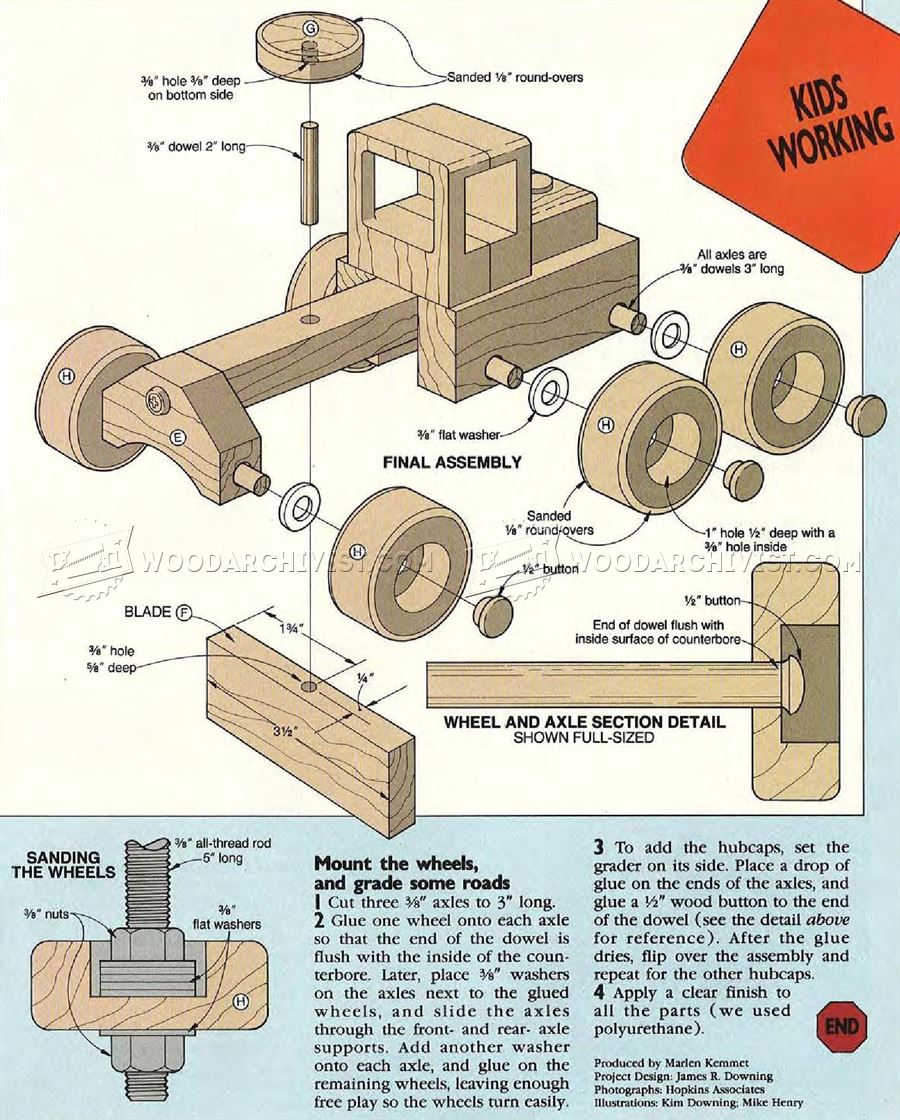 Road Grader - Wooden Toy Plans • WoodArchivist