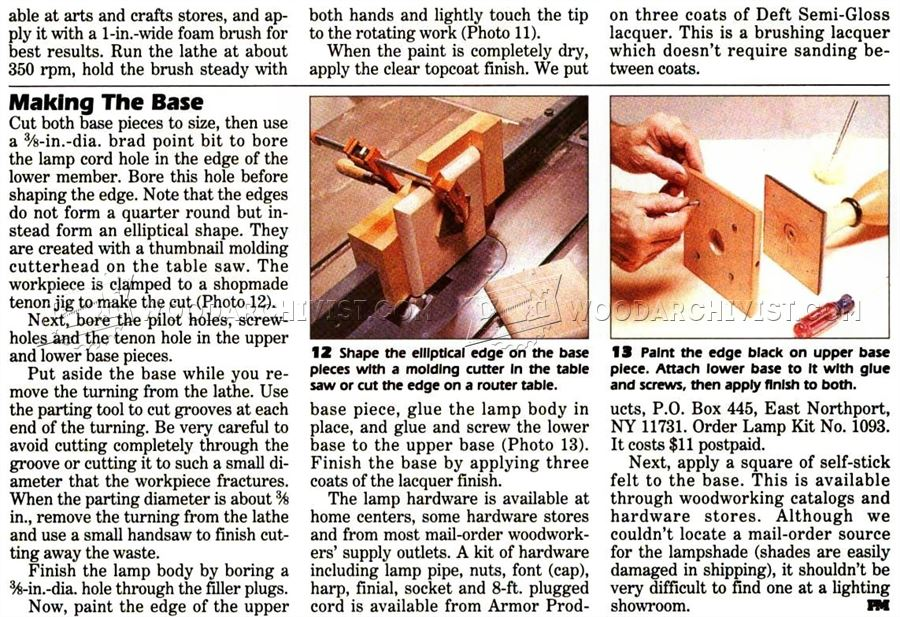 Maple Lamp - Woodturning Projects