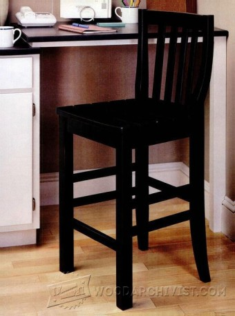 357-Kitchen Stool Plans