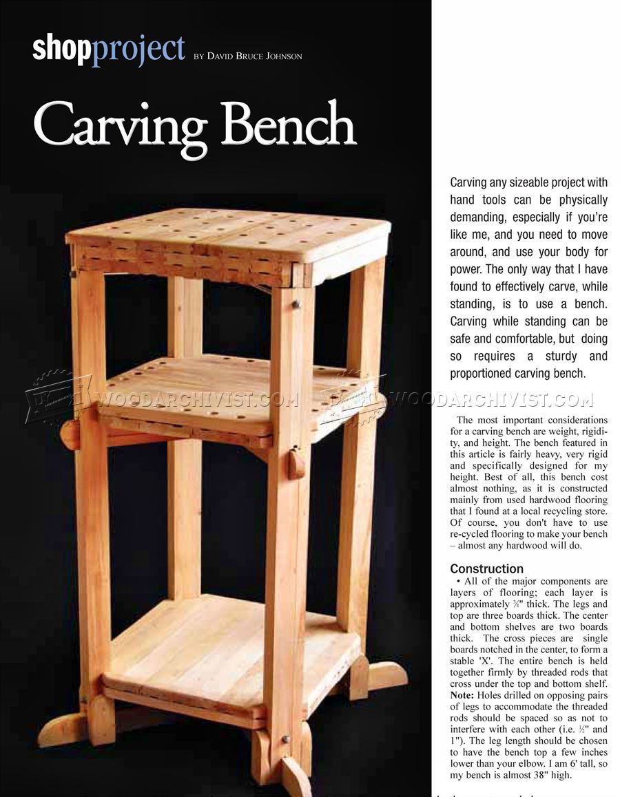 ... With Bench Plans Diy Pdf Wood Carvers Chops. on wood carvers bench