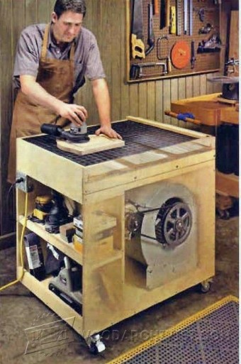 366-Dust-Free Downdraft Sanding Table Plans