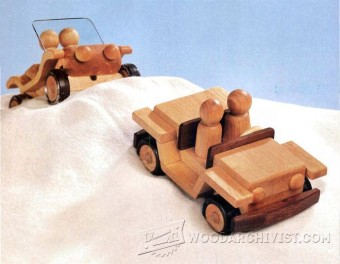 368-Wooden Jeep Plans