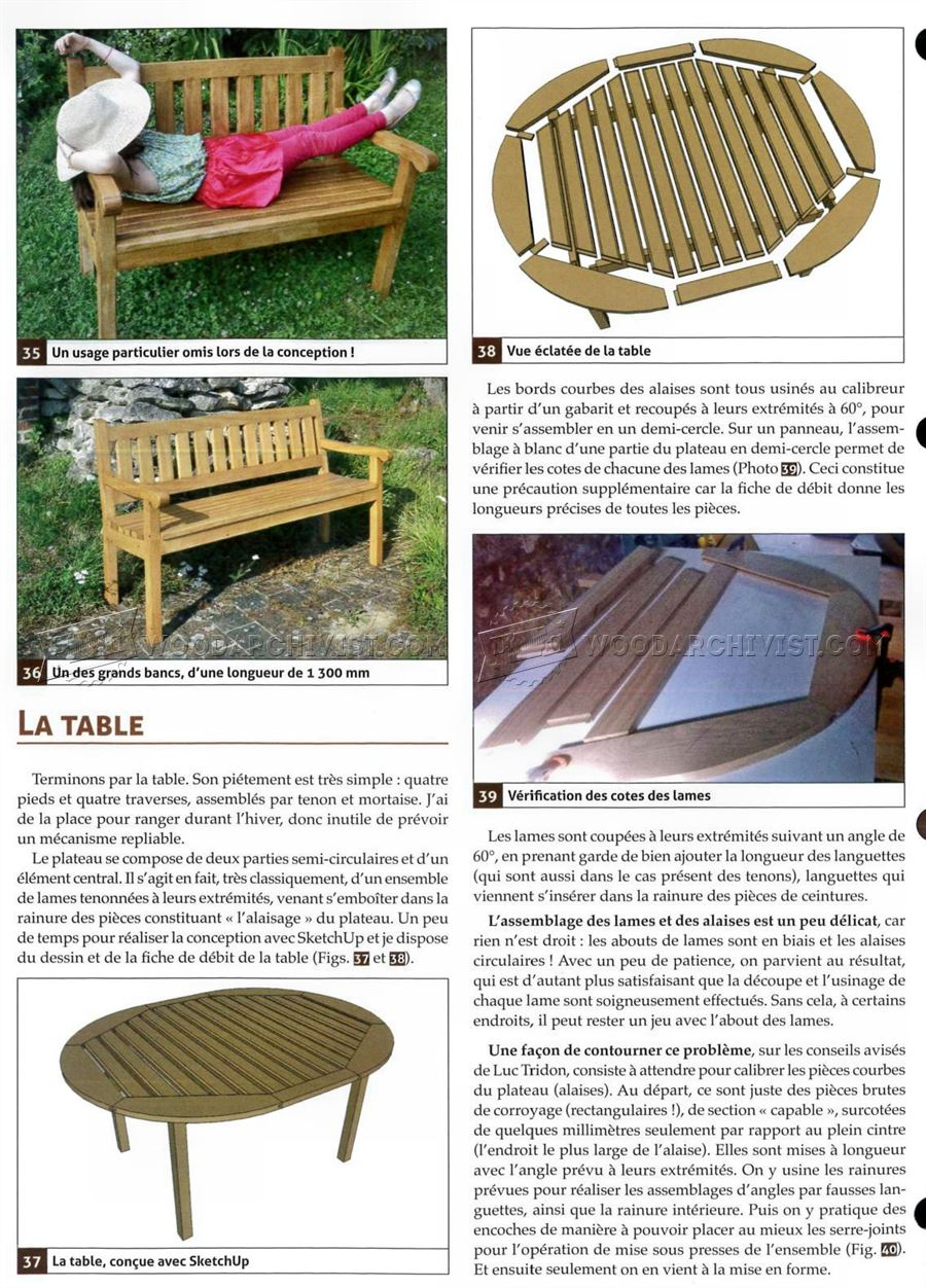 Garden Furniture Plans
