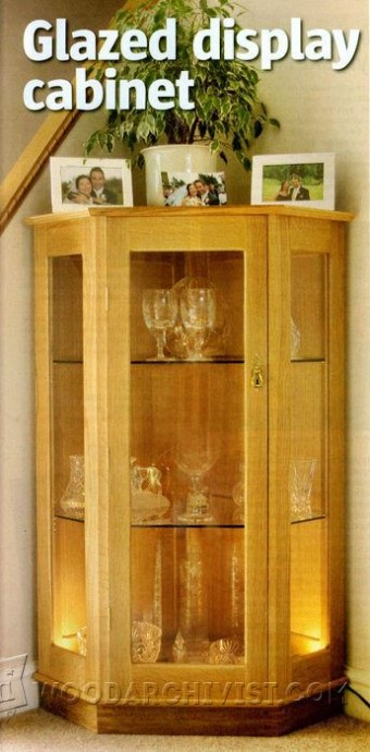 372-Glazed Display Cabinet Plans