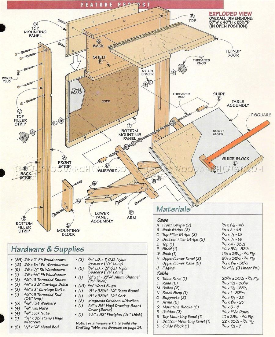 New Woodwork Wood Drafting Table Plans Pdf