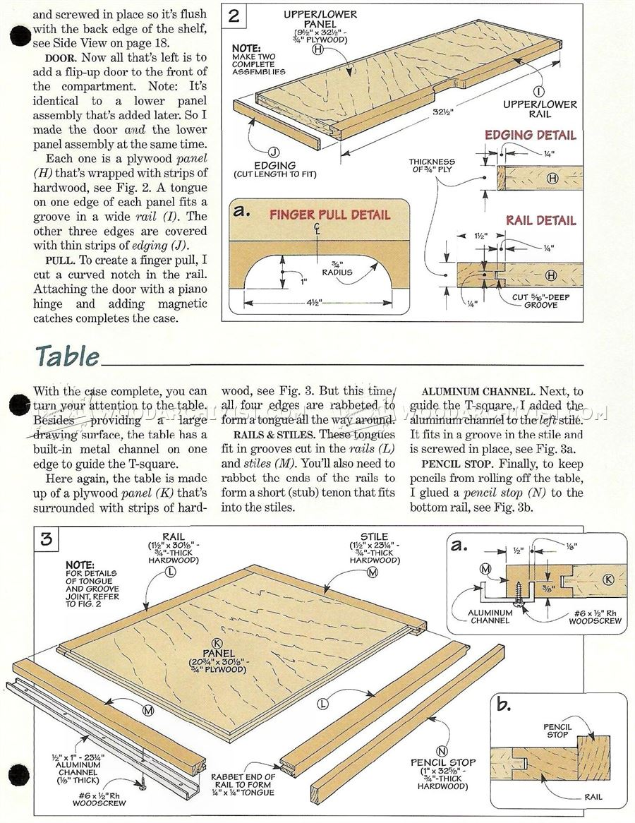 Fold-Down Drafting Table Plans - Workshop Solutions