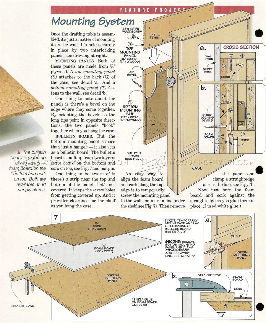 Fold Down Drafting Table Plans Woodarchivist