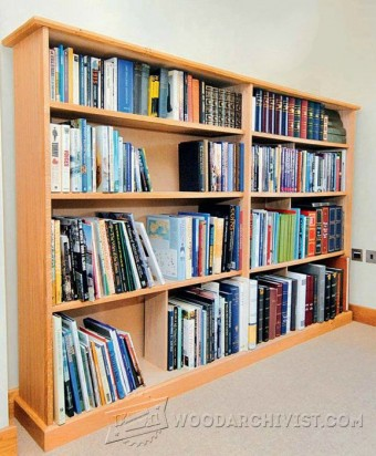 376-Oak Bookcase Plans