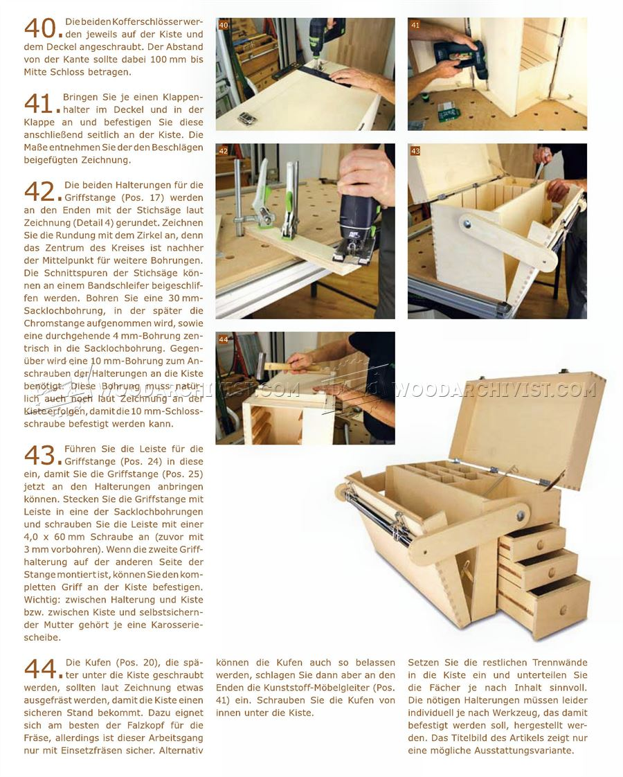 Plywood Tool Chest Plans Woodarchivist
