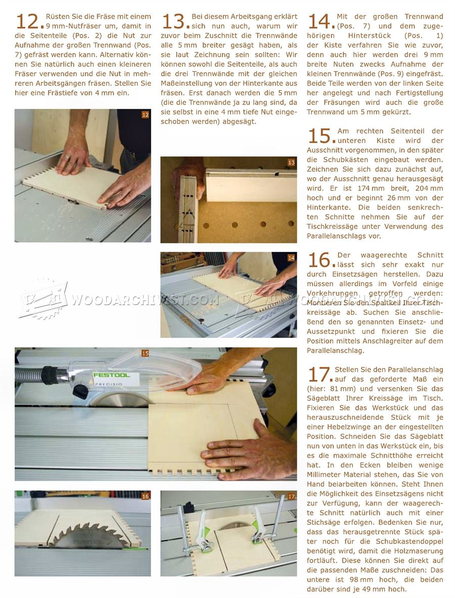 Plywood Tool Chest Plans