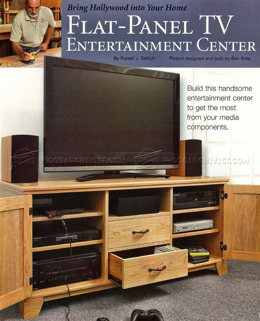 Flat-Panel TV Entertainment Center Plans