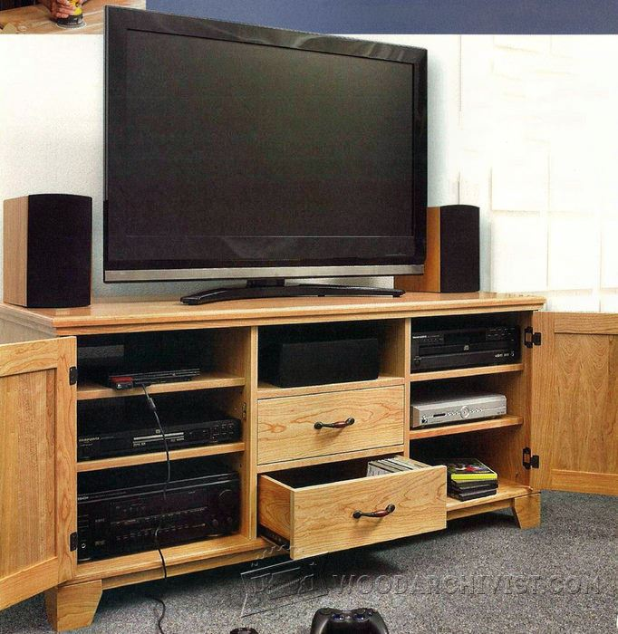 Tv Stand Woodworking Designs : Flat panel tv entertainment center plans woodarchivist