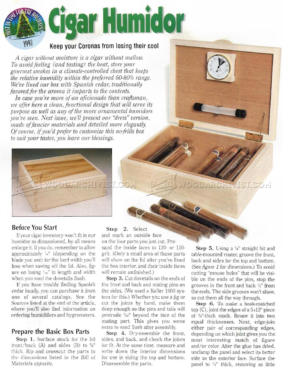 Free Woodworking Plans Humidor