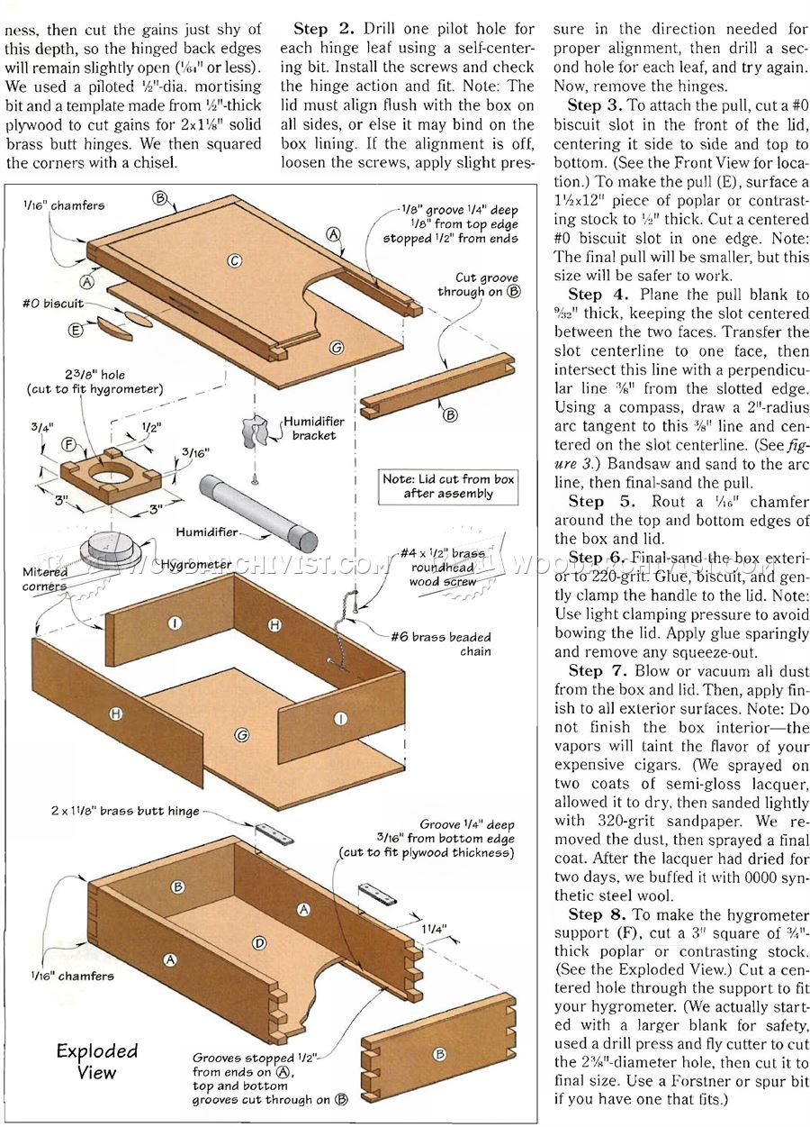 389 Cigar Humidor Plans - Woodworking Plans