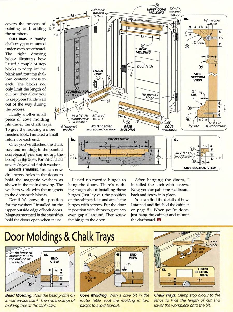 Dartboard Cabinet Plans - Woodworking Plans