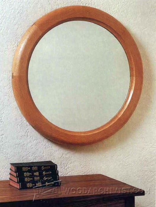Build a round mirror frame woodarchivist for How to make a round frame for mirror