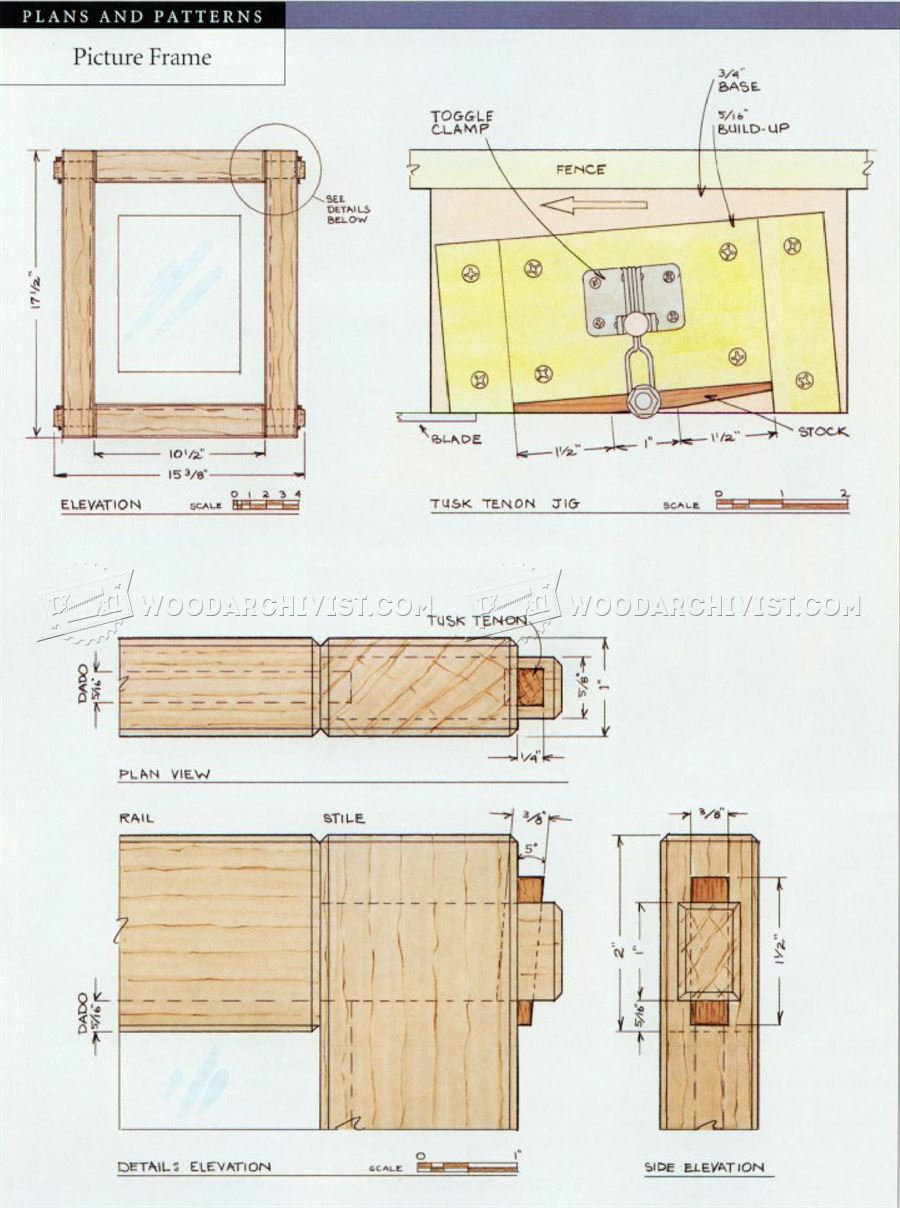 Picture frame plans woodarchivist for Frame plan