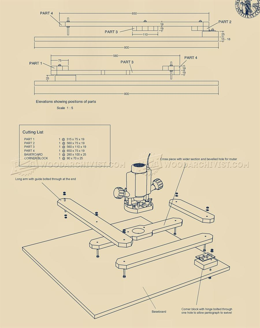 Router Pantograph Plans • WoodArchivist