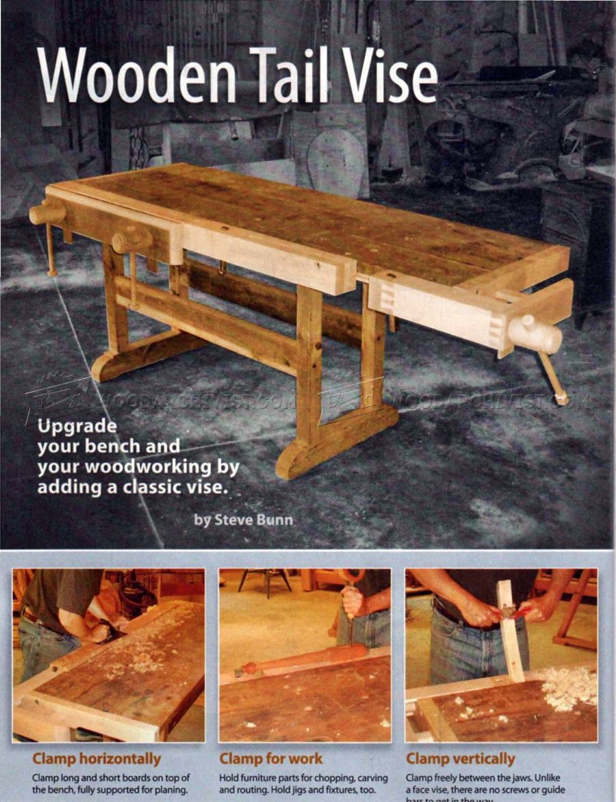 Wooden Tail Vise Plans