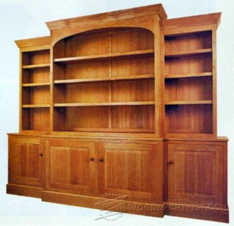 437-classic-breakfront-bookcase-plans