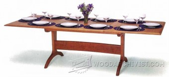 442-dining room-table-plans