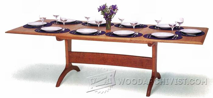Dining room table plans woodarchivist for Dining room table designs